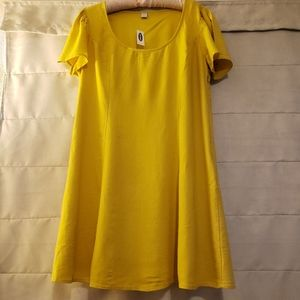 Old Navy Yellow Summer Dress Size L